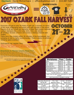 Gateway Disc Sport's Ozark Fall Harvest graphic