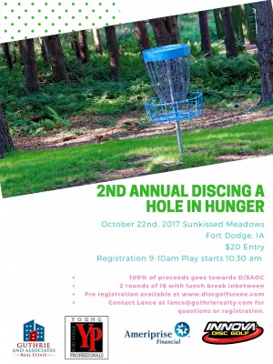 2nd Annual Discing a hole in Hunger graphic