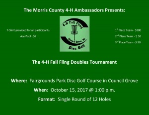 4-H Fall Fling Doubles Tournament graphic