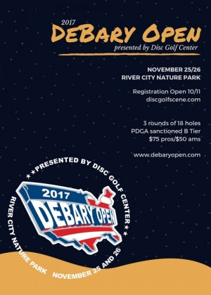 2017 DeBary Open presented by Disc Golf Center graphic