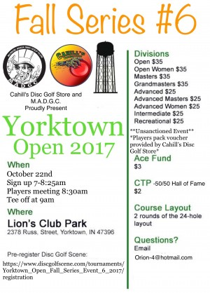 Yorktown Open Fall Series Event #6 graphic