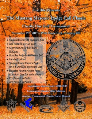 Mustang Masonic Lodge Fall Classic - Doubles Round graphic
