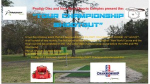 """Prodigy Disc and New World Present the """"Tour Championship Shootout"""" graphic"""