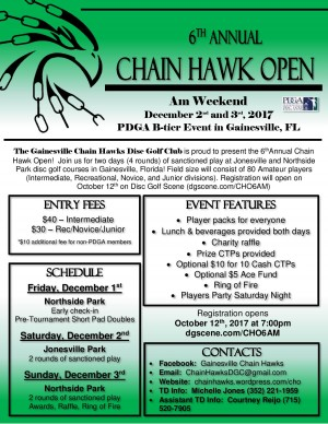 6th Annual Chain Hawk Open AM Weekend graphic
