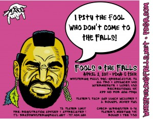 Fools At The Falls! graphic