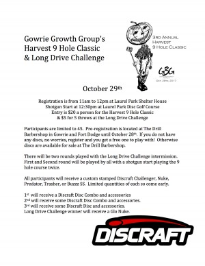 Gowrie Growth Group 3rd Annual Harvest 9 Hole Classic graphic