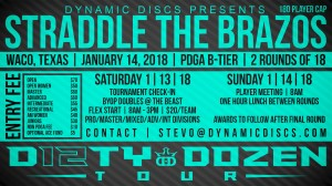 Dynamic Discs Presents Straddle the Brazos graphic