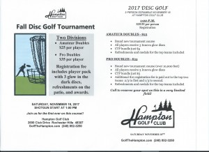 Hampton GC Doubles Tournament graphic