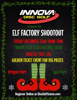 The Innova Elf Factory Shootout ~ Golden Ticket ~ GL graphic