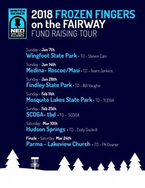 NEO 2018 Frozen Fingers on the Fairway Tour - Wingfoot graphic