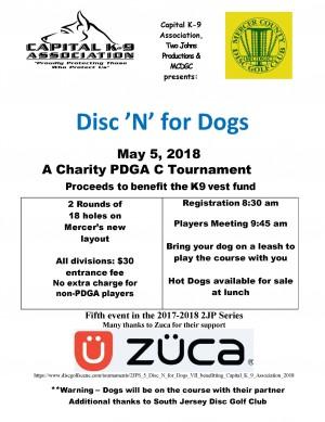 2JPS #5 - Disc 'N' for Dogs VII (benefitting Capital K-9 Association) graphic