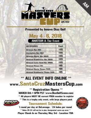 2018 Santa Cruz Masters Cup (Am) - Presented by Innova graphic