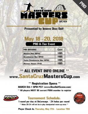 2018 Santa Cruz Masters Cup (Pro) - Presented by Innova graphic