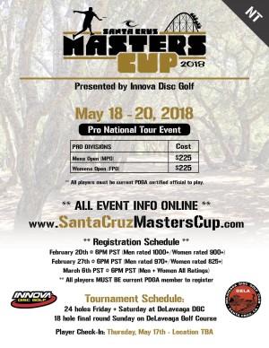 2018 Santa Cruz Masters Cup (NT) - Presented by Innova graphic