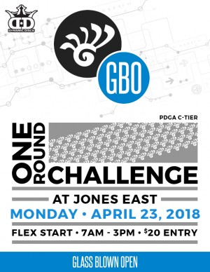 2018 Glass Blown Open One Round Challenge Flex Start C-Tier at Jones East graphic