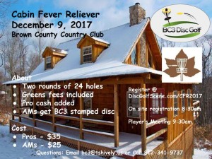 Cabin Fever Reliever 2017 @ BC3 graphic