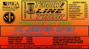 TC Jester Open - Throw the Line Tour Event graphic