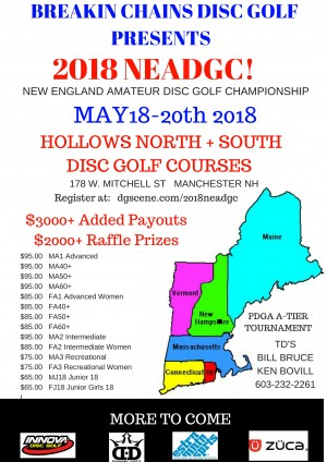 2018 New England Amateur Disc Golf Championship Sponsored by Dynamic Discs graphic