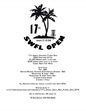 17th Annual Southwest Florida Open graphic