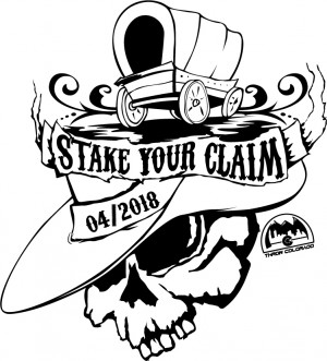2018 Stake your Claim Hosted by Throw Colorado graphic