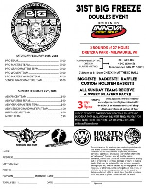 31st Annual Big Freeze Doubles Event Adv/Am/Mixed Day graphic