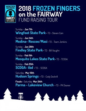 NEO 2018 Frozen Fingers on the Fairway Tour - Hudson Springs Park graphic