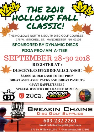 2018 Hollows Fall Classic Sponsored by Dynamic Discs graphic