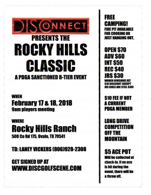 DISConnect DG presents the Rocky Hills Classic graphic