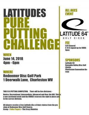 "Lattitudes ""Pure"" Putting Challenge graphic"