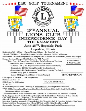 2nd Annual Lions Club Independence Day Tournament graphic