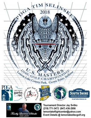 2018 PDGA Tim Selinske United States Masters Championship Driven by INNOVA graphic