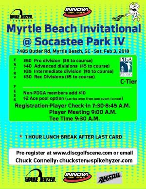 Spike Hyzer's: Myrtle Beach Invitational @ Socastee Park IV graphic