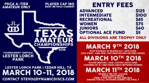 Dynamic Discs Presents the Texas Amateur Championships graphic