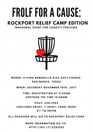 Frolf For a Cause: Rockport Relief Edition graphic