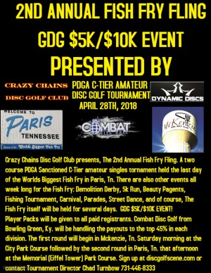 2ND ANNUAL FISH FRY FLING GDG $5K/$10K Event graphic