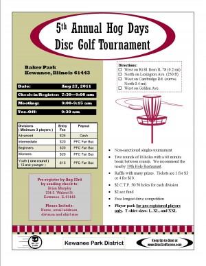 5th Annual Hog Days Tournament graphic