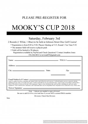 Mooky's Cup Not Yours 2018 graphic