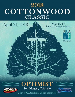 2018 Cottonwood Classic presented by Innova Champion Discs graphic