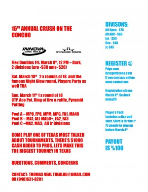 16th Annual Crush on the Concho graphic