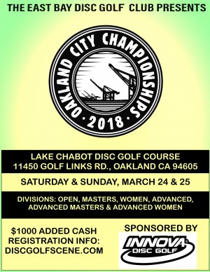 Oakland City Disc Golf Championships 2018 graphic