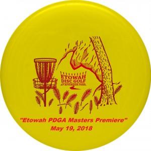 """Etowah PDGA Masters Premiere"" graphic"