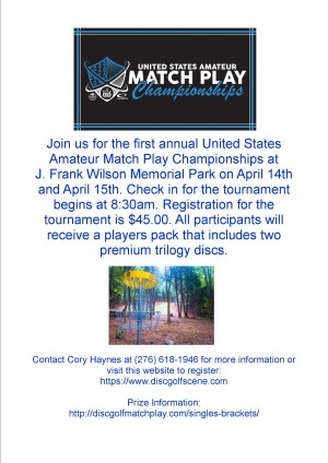 United States amateur match play championships at J. Frank Wilson park graphic