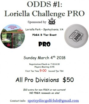 ODDS #1 - Loriella Challenge PRO : Sponsored by Dynamic Discs graphic