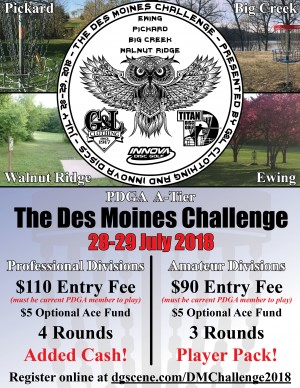 Des Moines Challenge 2018 presented by Innova and G&L Clothing graphic