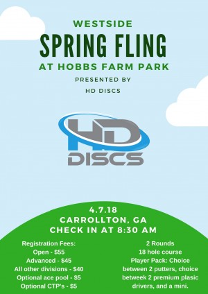 Westside Spring Fling - Presented By HD Discs graphic