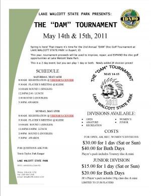 The DAM Tournament graphic