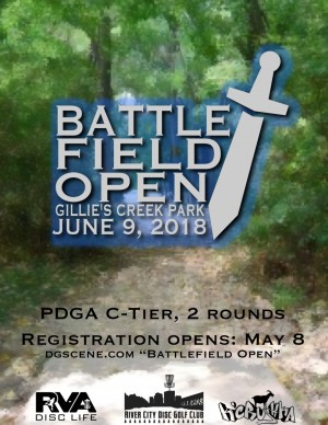 Battlefield Open 2018 - Presented by RVA Disc Life graphic