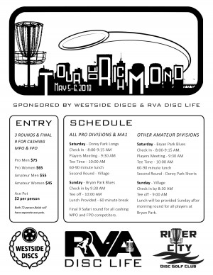 Tour De Richmond Sponsored by Westside Discs and RVA Disc Life graphic