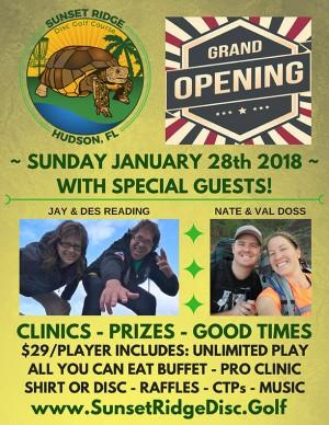 Sun King presents Sunset Ridge DGC Grand Opening graphic