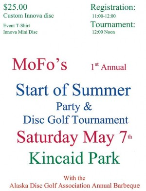 Mofo's 1st Annual Start of Summer Party and Disc Golf Tournament graphic